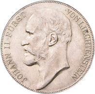 Liechtenstein: Lot 5 Stück; 5 Kronen 1904, 2 Kronen 1915, 1 Krone 1900, 1904 (2x), HMZ 2-1376c, 1377 - Liechtenstein