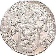 Niederlande: Campen: Löwentaler 1648, Davenport 4879, 26,83 G, Prägeschwäche, Schrötlingsfehler, Seh - [ 2] 1795-1814: Franz. Herrschaft