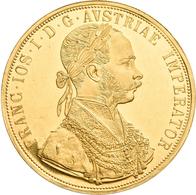 Österreich - Anlagegold: Franz Joseph I. 1848-1916: 4 Dukaten 1915 (NP), KM# 2276, Friedberg 488. 13 - Oesterreich