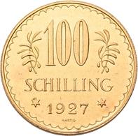 Österreich - Anlagegold: 1. Republik Bis 1945: 100 Schilling 1927, Edelweiss, KM# 2842, Friedberg 52 - Oesterreich