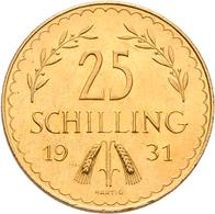 Österreich - Anlagegold: 1. Republik Bis 1945: 25 Schilling 1931, Edelweiss, KM# 2841, Friedberg 521 - Oesterreich