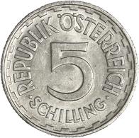 Österreich: 2. Republik Ab 1945: 5 Schilling 1957, Seltener Jahrgang, KM# 2879, Fast Vorzüglich. - Oesterreich