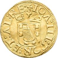 Portugal: João III. 1521-1557: Cruzado Calvario O. J.; Friedberg 29, 3,56 G, Gewellt, Felder Bearbei - Portugal