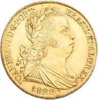 Portugal: Joao (Joannes) VI. 1799-1822: 6400 Reis 1822 (Peca / 4 Escudos) Lissabon, 12 Früchte/ Berr - Portugal
