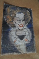 Superbe Ancien Dessin Aquarelle ,signé Fur,( Mon Mari C'est Bien Le Roi ? )42,5 Cm. Sur 29 Cm.Reine Fabiola - Aquarel