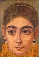 Egypte Portrait Funéraire Destiné à être Placé Sur Une Momie ANTINOE ? Peinture Sur Bois (Paris Le Louvre) * PRIX FIXE - Egypt