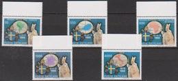 Vatikan 1989 Mi-Nr.988 - 992 ** Postfr. Die Weltreisen Von Papst Johannes Paul II. ( 8894 )günstige Versandkosten - Vatican