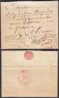 BELGIQUE LETTRE DATE DE DENDERMONDE 14/12/1834 CACHET TERMONDE VERS St NICOLAS (BE) DC-5400 - 1830-1849 (Belgique Indépendante)