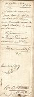 Lot De 2 Vieux Papier Du Béarn, Sendets, 1808, Marie Minvielle Et Joseph Pedebidou Vendent 76 Ares à Pierre Prat - Historische Documenten