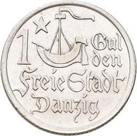 Danzig: 1 Gulden 1923. Jaeger D7. 5,0 G. Silber. Vorzüglich. - Ohne Zuordnung