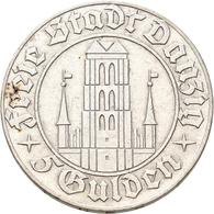 Danzig: 5 Gulden 1932 Marienkirche. Jaeger D17. 15,0 G. Silber. Kratzer, Sehr Schön. - Ohne Zuordnung