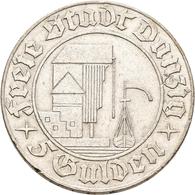 Danzig: 5 Gulden 1932 Krantor. Jaeger D18. 14,9 G. Silber. Kratzer, Randfehler, Sehr Schön. - Ohne Zuordnung