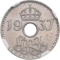 Proben & Verprägungen: Territory Of New Guinea (Australian Territory), Lot 2 Münzen: 3 Pence 1937 So - Ohne Zuordnung