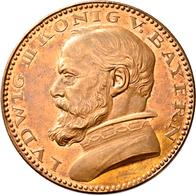 Proben & Verprägungen: Bayern, Ludwig III. 1913-1918: Lot 2 Stück; Probeprägungen In Bronze. 3 Mark - Ohne Zuordnung