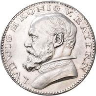 Proben & Verprägungen: Bayern, Ludwig III. 1913-1918: Probeprägung In Silber. 5 Mark 1913 O. Mzz. En - Ohne Zuordnung