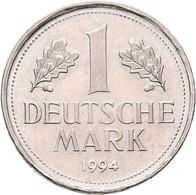 Proben & Verprägungen: Bundesrepublik Deutschland: FEHLPRÄGUNG 1 Mark (J. 385) 1994, Beidseitig Mit - Ohne Zuordnung