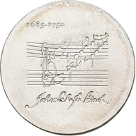 Proben & Verprägungen: DDR: 20 Mark 1975, Johann Sebastian Bach, PROBE/Variante Mit Vertieften Noten - Ohne Zuordnung