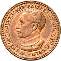 Proben & Verprägungen: Deutsches Kaiserreich 1871-1918: Lot 2 Stück; Probeprägungen In Kupfer. 3 Mar - Ohne Zuordnung