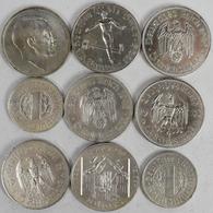 Proben & Verprägungen: Drittes Reich 1933-1945: Lot 9 X GALVANOS; 5 Reichsmark 1935 A (4 Varianten); - Ohne Zuordnung