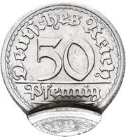 Proben & Verprägungen: Weimarer Republik 1918-1933: 50 Pfennig 1919-1922, Jahreszahl Und Münzzeichen - Ohne Zuordnung