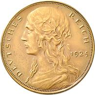 Proben & Verprägungen: Weimarer Republik 1918-1933: Probeprägung In Bronze; 5 Reichsmark 1925, Entwu - Ohne Zuordnung