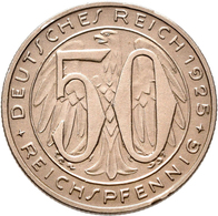 Proben & Verprägungen: Weimarer Republik 1918-1933: Probeprägung In Kupfer-Nickel; 50 Reichspfennig - Ohne Zuordnung