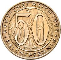 Proben & Verprägungen: Weimarer Republik 1918-1933: Probeprägung In Neusilber; 50 Reichspfennig 1925 - Ohne Zuordnung