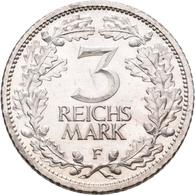Proben & Verprägungen: Weimarer Republik 1918-1933: Probeprägung In Silber; 3 Reichsmark 1932 F. Sch - Ohne Zuordnung