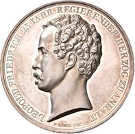 Medaillen Deutschland: Anhalt-Dessau, Leopold Friedrich 1817-1871: Silbermedaille 1842, Von König, A - Deutschland