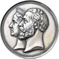 Medaillen Deutschland: Baden, Friedrich I., 1852-1907:Silbermedaille 1883, Stempel Von F. W. Kullric - Deutschland