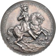Medaillen Deutschland: Baden-Baden,Ludwig Wilhelm 1677-1707: Mattierte Silbermedaille 1955 Unsignier - Deutschland