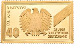 Medaillen Deutschland: BRD: Goldprägung 25 Jahre Bundesrepublik Deutschland. 24,9 Gramm 900/1000 Gol - Deutschland
