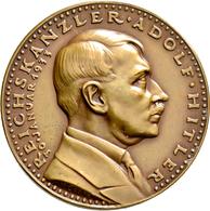 Medaillen Deutschland: Drittes Reich 1933-1945: Bronzemedaille 1933 Von Karl Goetz, Auf Die Machterg - Deutschland
