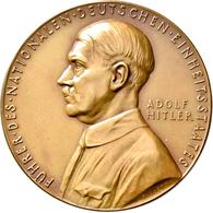 Medaillen Deutschland: Drittes Reich 1933-1945: Bronzemedaille 1934, Von K. Goetz. Auf Die Schaffung - Deutschland