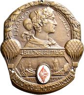 Medaillen Deutschland: Frankfurt A.M.: Einseitige Bronzeplakette O.J. (1929) Vom E. F. Wiedmann. Auf - Deutschland