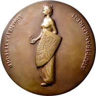 Medaillen Deutschland: Frankfurt: Große Bronzegussmedaille 1952. Ehrenplakette Der Stadt Frankfurt A - Deutschland
