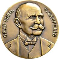 Medaillen Deutschland: Friedrichshafen: Bronzemedaille 1909 Von Mayer & Wilhelm. Fahrten Der Zeppeli - Deutschland