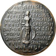 Medaillen Deutschland: Leverkusen: Bronzegussmedaille O.J. (um 1920), Von Carl Ebbinghaus. Für 25 Ja - Deutschland