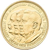 Medaillen Deutschland: Luftfahrt: Goldmedaille 1929, Auf Die 1. Weltfahrt Des Luftschiffes Graf Zepp - Deutschland