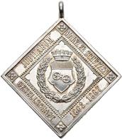 Medaillen Deutschland: Mainz: Klippenförmige Silbermedaille 1887, Auf Das 25-jährige Jubiläum Der Sc - Deutschland