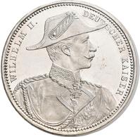 Medaillen Deutschland: Preußen, Wilhelm II. 1888-1918: Silbermedaille O. J. (1895), Werkstatt Lauer, - Deutschland