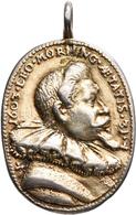 Medaillen Deutschland: Renaissance/Barock: Hochovales Medaillon 1603, Unsigniert. Av: Im Perlrand Da - Deutschland