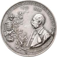 Medaillen Deutschland: Sachsen, Albert 1873-1902: Silbermedaille 1898, Von Helmig Und Schwarz, Auf S - Deutschland