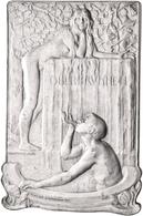 Medaillen Deutschland: Schlesien, Bad Salzbrunn: Versilberte Bronzeplakette 1901, Von Kraumann, Gepr - Deutschland
