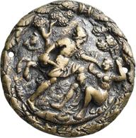 Medaillen Deutschland: Süddeutschland: Einseitige Bronzeplakette O. J. (16. Jh.). In Einem Wald Wehr - Deutschland