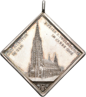 Medaillen Deutschland: Ulm: Silberne Medaillenklippe 1890, Auf Die Vollendung Des Münster: Ansicht D - Deutschland