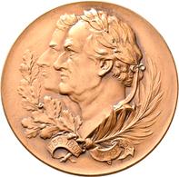 Medaillen Deutschland: Weimar: Lot 2 Stück; Goethe Und Schiller Gemeinsam. Bronzemedaille O. J. (um - Deutschland