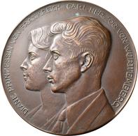 Medaillen Deutschland: Württemberg, Carl Herzog Von Württemberg *1936: Einseitiges Bronzegussmodell - Deutschland