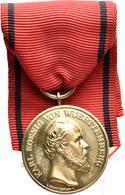 Medaillen Deutschland: Württemberg, Karl 1864-1891: Goldene Zivil Verdienstmedaille O.J. Von Chr. Sc - Deutschland