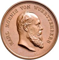 Medaillen Deutschland: Württemberg, Wilhelm I. 1816-1864: Lot 6 Stück; Bronzene Prämienmedaille Für - Deutschland